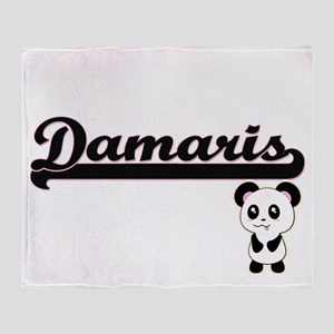 Damaris Classic Retro Name Design wi Throw Blanket